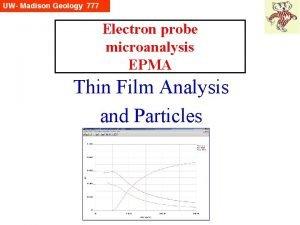Electron probe microanalysis EPMA Thin Film Analysis and