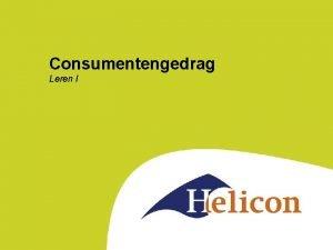 Consumentengedrag Leren I Vandaag Herhaling van vorige week
