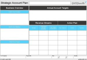 Strategic Account Plan Business Overview Annual Account Targets