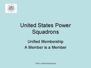 United States Power Squadrons Unified Membership A Member
