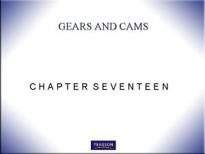 GEARS AND CAMS CHAPTER SEVENTEEN OBJECTIVES 1 Define