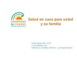 Salud en casa para usted y su familia