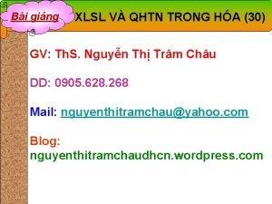 Bi ging XLSL V QHTN TRONG HA 30