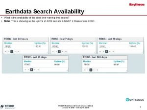 Earthdata Search Availability What is the availability of
