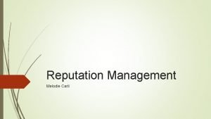 Reputation Management Melodie Carli Ptolemy VIII Ptolemy VIII