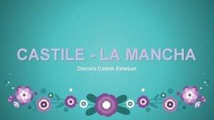 CASTILE LA MANCHA Daniela Colom Esteban CONTENTS Regional