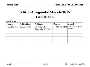 March 2018 doc IEEE 802 11 180310 r