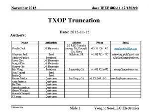 November 2012 doc IEEE 802 11 121302 r