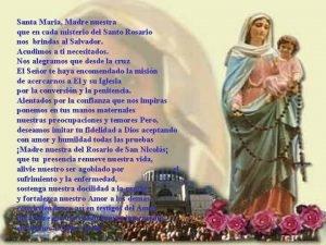 Santa Maria Madre nuestra que en cada misterio