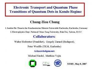 Electronic Transport and Quantum Phase Transitions of Quantum