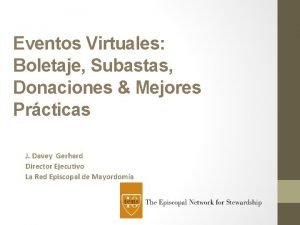 Eventos Virtuales Boletaje Subastas Donaciones Mejores Prcticas J
