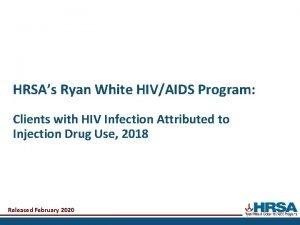 HRSAs Ryan White HIVAIDS Program Clients with HIV