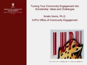 Turning Your Community Engagement Into Scholarship Ideas and