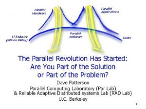 Parallel Applications Parallel Hardware IT industry Silicon Valley