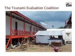 The Tsunami Evaluation Coalition The Tsunami Evaluation Coalition