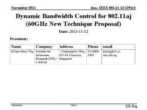 November 2013 doc IEEE 802 11 131291 r