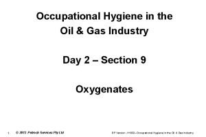 Occupational Hygiene in the Oil Gas Industry Day