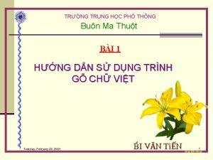 TRNG TRUNG HC PH THNG Bun Ma Thut