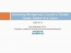 Achieving Montgomery Countys Climate Goals Sketch of a