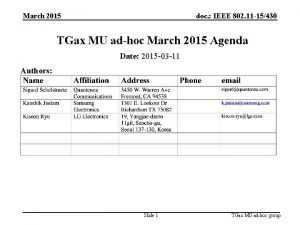 March 2015 doc IEEE 802 11 15430 TGax
