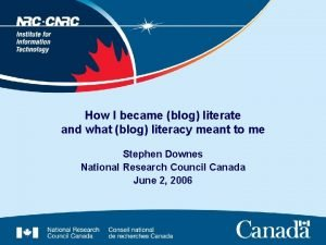 How I became blog literate and what blog