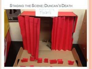 STAGING THE SCENE DUNCANS DEATH STAGING THE SCENE