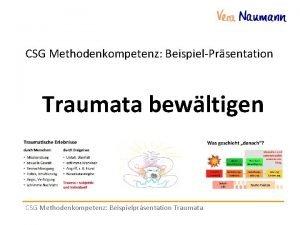 CSG Methodenkompetenz BeispielPrsentation Traumata bewltigen CSG Methodenkompetenz Beispielprsentation