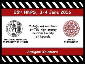 25 th HNPS 3 4 June 2016 197