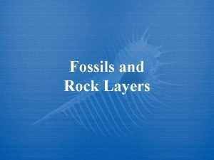 Fossils and Rock Layers How are Fossils preserved