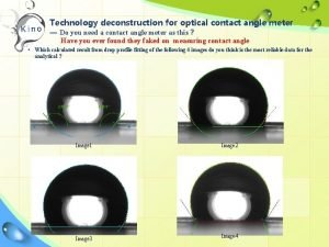 Technology deconstruction for optical contact angle meter Do