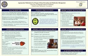 Appropriate Medication Use Project Poison Prevention and Medication