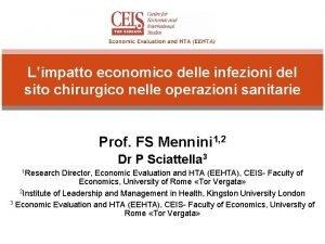 Limpatto economico delle infezioni del sito chirurgico nelle