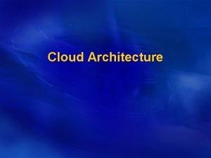 Cloud Architecture SPI Model l Cloud Computing Classification