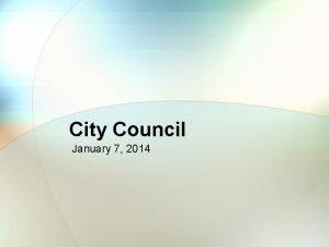 City Council January 7 2014 River Fest River