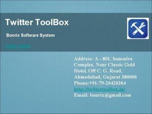 Twitter Tool Box Bonrix Software System Twitter Toolbox
