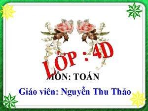 MN TON Gio vin Nguyn Thu Tho Th