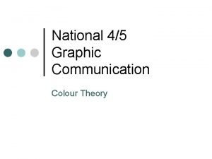 National 45 Graphic Communication Colour Theory Graphic Communication