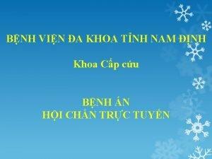BNH VIN A KHOA TNH NAM NH Khoa