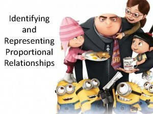 Identifying and Representing Proportional Relationships Discovering Proportional Relationships