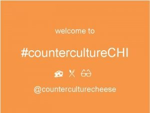 welcome to counterculture CHI counterculturecheese cheese science and
