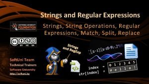 Strings and Regular Expressions Strings String Operations Regular