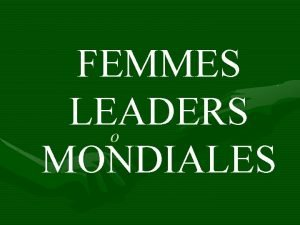 FEMMES LEADERS o MONDIALES 18092015 LAssociation a 15