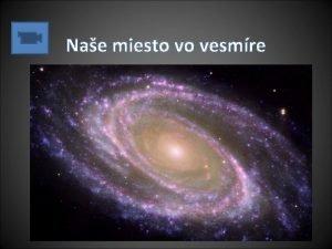 Nae miesto vo vesmre Vesmr Vetky objekty na