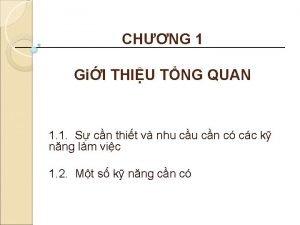 CHNG 1 GiI THIU TNG QUAN 1 1