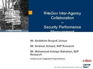 R 4 e Gov InterAgency Collaboration Security Performance