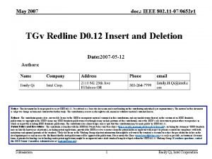 May 2007 doc IEEE 802 11 070652 r