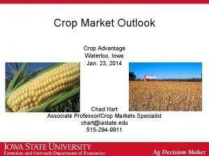 Crop Market Outlook Crop Advantage Waterloo Iowa Jan