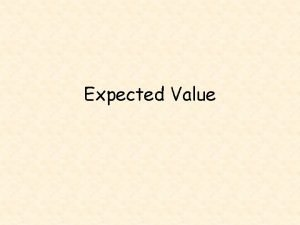 Expected Value Vocabulary expected value decision theory Of