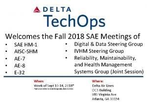Welcomes the Fall 2018 SAE Meetings of SAE