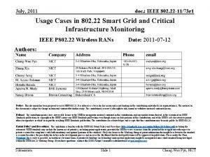 July 2011 doc IEEE 802 22 1173 r